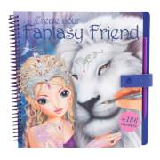 Depesche 8061 Create your Fantasy Friend Malbuch mit Rubbelbildern