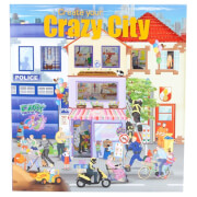 Depesche 6519 Create your Crazy City Malbuch  mit Stickern