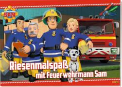 Feuerwehrmann Sam - Malbuch ''Riesen Malspaß''