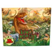 Depesche 4467 Dino Stickerfun, Malbuch mit Stickerbogen