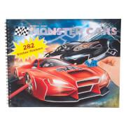 Depesche 6312 Create your Monster Cars - Malbuch mit vielen Stickern