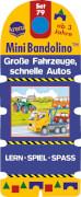 Arena - Mini Bandolino  Set 79: Große Fahrzeuge, schnelle Autos, Pappe, 12 Seiten, ab 3-6 Jahren