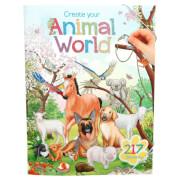 Depesche 5353 Create Your Animal World Malbuch mit Stickern