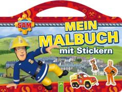 Feuerwehrmann Sam - Mein Malbuch mit Stickern