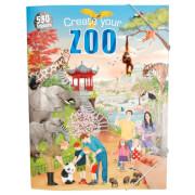 Depesche 10014 Create your ZOO, Malbuch mit Stickern