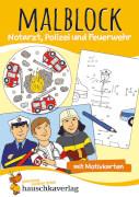 Malblock - Notarzt, Polizei und Feuerwehr. Ab 3 Jahre.