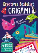 Kreatives Bastelset: Origami: Set mit 50 Faltbögen, Anleitungsbuch und Falzhilfe: Falten für Kinder, Taschenbuch, 16 Seiten, ab