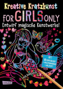 Kreative Kratzkunst: For Girls Only: Set mit 10 Kratzbildern, Anleitungsbuch und Holzstift, Taschenbuch, 16 Seiten, ab 5 Jahre