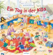 Mein allererstes Wimmelbuch - Ein Tag in der Kita, Pappbilderbuch, 16 Seiten, ab 24 Monaten.