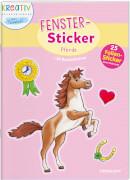 Fenster-Sticker Pferde, Stickerbuch, 24 Seiten, ab 5 Jahren