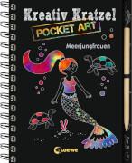 Loewe Kreativ-Kratzel Pocket Art: Meerjungfrauen