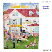 Depesche 10367 Create your Sweet Home - Malbuch mit Stickern