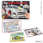 Depesche 10631 Monster Cars Pocket Malbuch