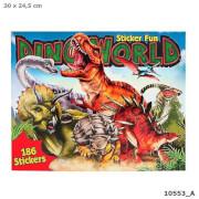 Depesche 10553 Dino Stickerfun, Malbuch mit Stickern