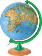 Globus Tiere der Erde 25cm mit Holzfuß