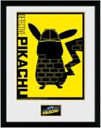 Druck mit Rahmen Pikachu Schatten (30 x 40cm)