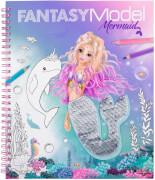 Fantasy Model Malbuch mit Pailletten MER