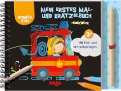 HABA Kreativ Kids # Mein erstes Mal- und Kratzelbuch Feuerwehr1