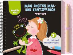 HABA Kreativ Kids # Mein erstes Mal- und Kratzelbuch Prinzessin1