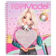 TOPModel Malbuch mit Pailletten