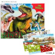 Dino Stickerfun, Malbuch mit Stickerboge