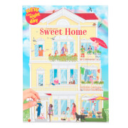 Create your Sweet Home - Malbuch mit Stickern