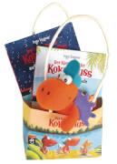 Der kleine Drache Kokosnuss - Geschenktüte - Set, zwei Kokosnuss-Bücher und ein Filz-Drachen, ab 6 Jahren