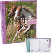 Depesche 4422 Horses Dreams Tagebuch mit Code und Sound Motiv 1, pink