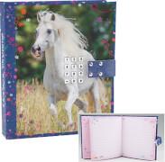 Depesche 4423 Horses Dreams Tagebuch mit Code und Sound Motiv 2, blau