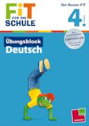 Übungsblock Deutsch 4.Klasse, Schulbuch, 80 Seiten, ab 9 Jahren