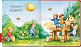 Coppenrath kleine Bibliothek: Ri-ra-rutsch - Meine ersten Kinderreime, Pappbilderbuch, ab 12 Monate,24 Seiten, Hardcover