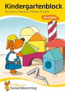 Kindergartenblock - Formen, Farben, Fehler finden ab 4 Jahre. Ab 4 Jahre.