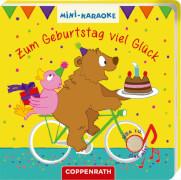 Mini-Karaoke: Zum Geburtstag viel Glück, Pappbilderbuch mit Soundmodul, 12 Seiten, ab 1 Jahr, inklusive Batterien