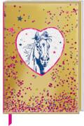 Notizbuch mit Klarsichthülle: Pferdefreunde Notizen