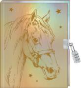 Tagebuch: Pferdefreunde - Mein Tagebuch  metallic mit Schloss