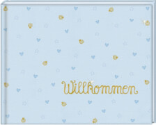 Babyalbum Willkommen, hellblau  BabyGlück