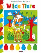 Mein Malbuch mit Malkasten: Wilde Tiere