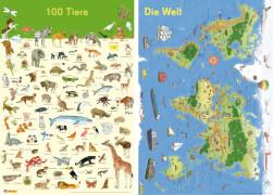 Mein Lernposter: 100 Tiere / Die Welt