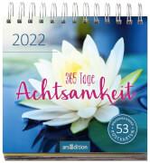Postkartenkalender 365 Tage Achtsamkeit 2022 - Wochenkalender mit abtrennbaren Postkarten