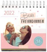 Postkartenkalender Beste Freundinnen 2022 - Wochenkalender mit abtrennbaren Postkarten