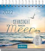 Postkartenkalender Sehnsucht nach Meer 2022 - Wochenkalender mit abtrennbaren Postkarten