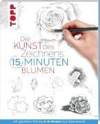 Kunst des Zeichnens - 15 Min.-Blumen