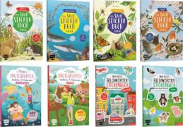 Stickerbücher für kreative Kids, sortiert