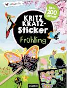 arsEdition, 133552, Kritzkratz-Sticker Frühling. Ab 5 Jahre