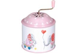 Die Spiegelburg 14178 BabyGlück - Spieluhrdose Elefant, rosa