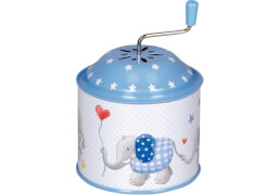 Die Spiegelburg 14179 BabyGlück - Spieluhrdose Elefant, hellblau