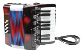 New Classic Toys - Musikinstrument - Akkordeon schwarz/rot