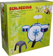 Boogie Bee Schlagzeug mit Hocker, Kinderinstrument, ab 3 Jahren