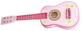 Gitarre  pink mit Blumen