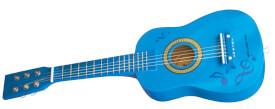 Gitarre  blau mit Noten